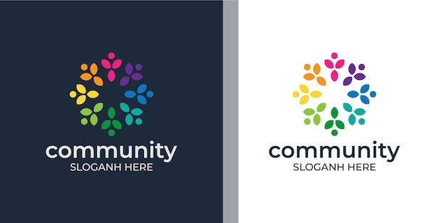 Definir logotipo colorido do grupo social criativo
