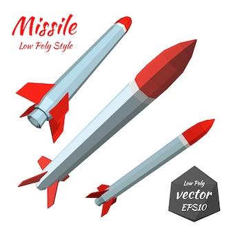 Definir míssil isolado no branco