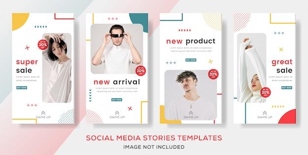 Definir modelo de banner para postagem de histórias de venda de moda.