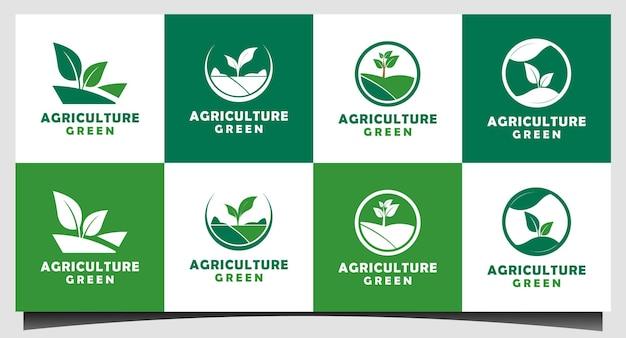 Definir modelo de design de logotipo de agricultura