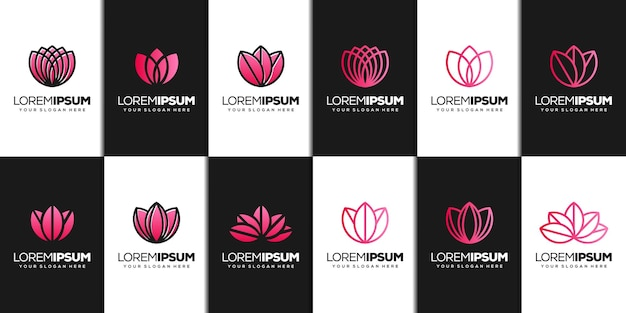 Definir modelo de logotipo abstrato de lótus