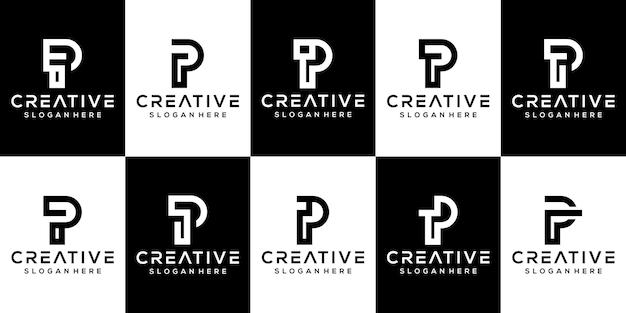 Definir modelo de logotipo p letra do pacote