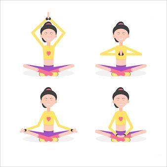 Definir mulher meditação