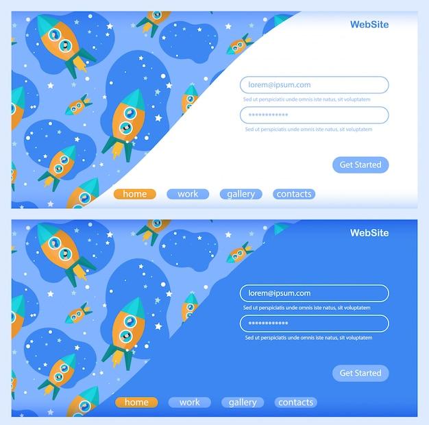 Definir o banner de lançamento de ideias para a página de destino Vetor Premium