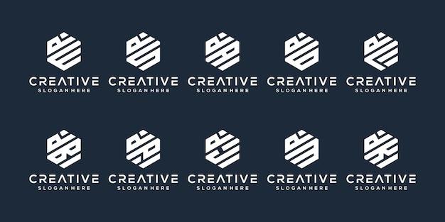 Definir o design do logotipo da letra d do pacote