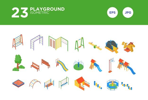 Definir o design isométrico do playground