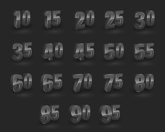 Definir o estilo 3d do número.