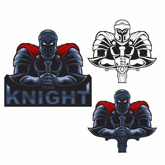 Definir o logotipo de mascote cavaleiro