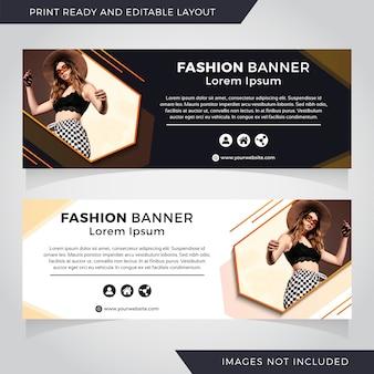 Definir o modelo de banner de moda com efeito de sombra.