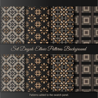 Definir o padrão étnico dayak. padrão de batik indonésio.