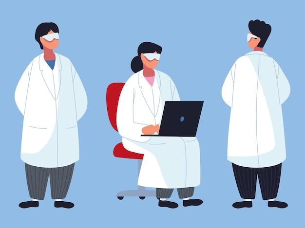 Definir o profissional médico da equipe