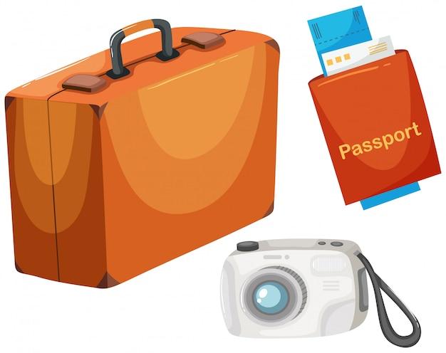 Definir objetos de viagem diferentes