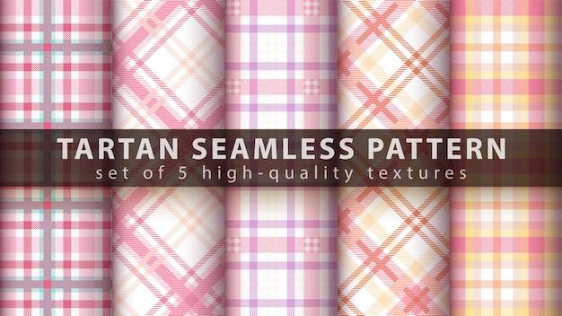 Definir padrão tartan clássico sem costura