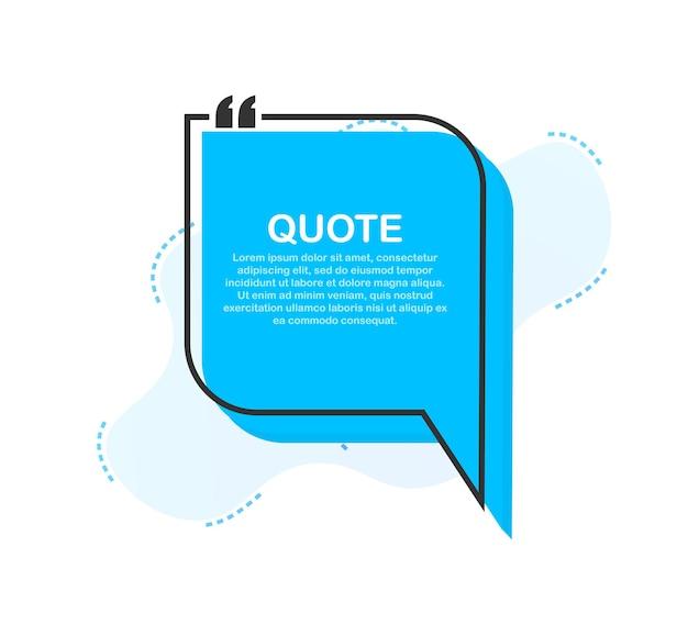 Definir quadros de cotação. modelo em branco com citações de design de informações de impressão. ilustração em vetor das ações.
