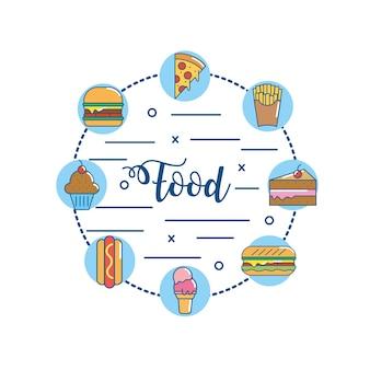 Definir saborosa nutrição fastfood e alimentos pouco saudáveis