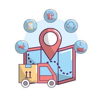 Definir serviço de entrega rápido transportantion