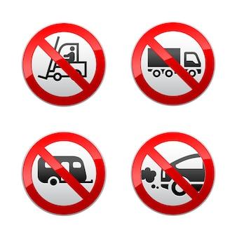 Definir símbolos proibidos - transporte