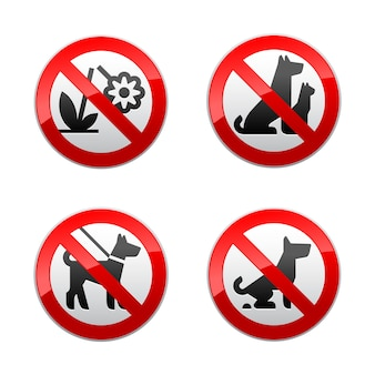 Definir sinais proibidos - animais