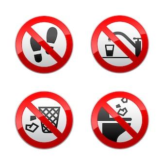 Definir sinais proibidos
