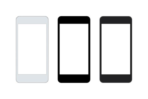 Definir smartphone com tela em branco