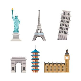Definir torres globais explorar e destino