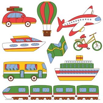 Definir transporte de viagem