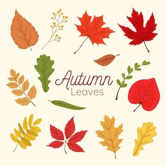 Definir vetor de elemento de folhas de outono