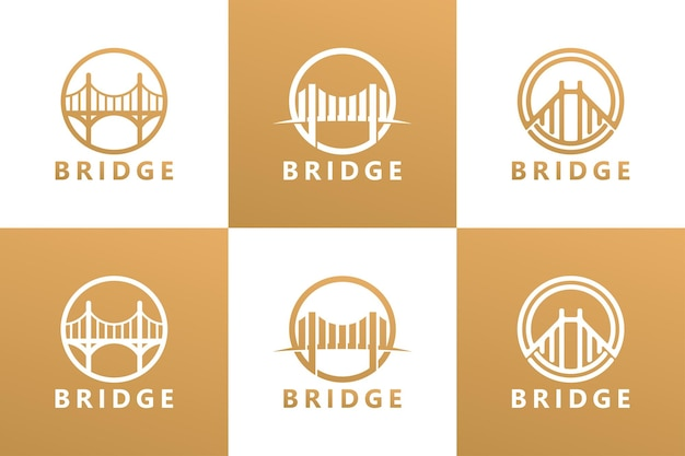 Definir vetor premium do modelo do logotipo da ponte