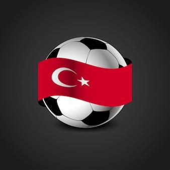 Deisgn de futebol com vetor falg turco