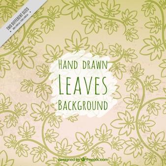 Deixa desenhado mão verde fundo decorativo