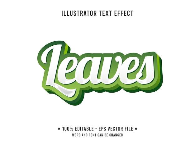 Deixa o modelo de efeito de texto editável