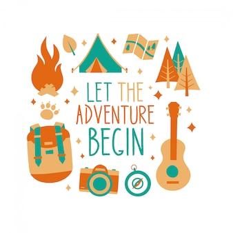 Deixe a aventura começar cartão