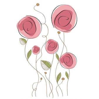 Delicado fundo floral