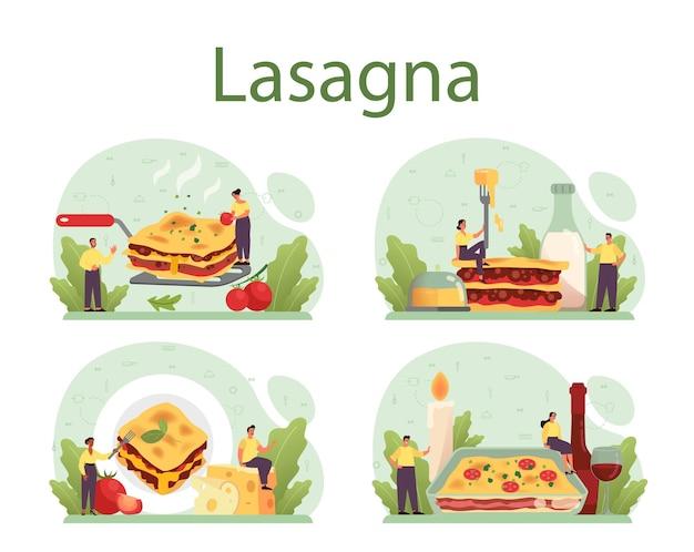 Deliciosa culinária italiana no prato
