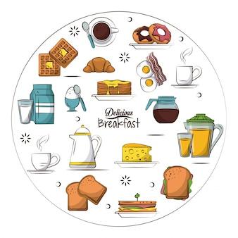 Deliciosa ilustração do café da manhã