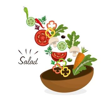 Deliciosa salada de legumes fresca