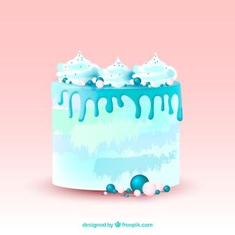 Delicioso bolo em estilo realista
