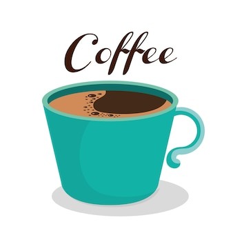 Delicioso café bebida ícone vector ilustração design