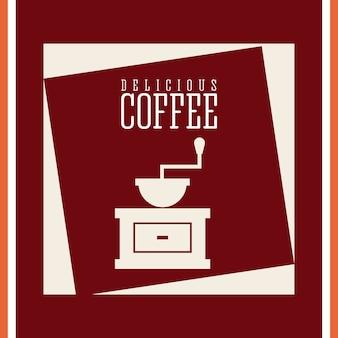 Delicioso café design, ilustração vetorial eps10 gráfico
