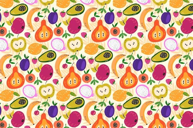 Delicioso colorido olhando padrão frutado