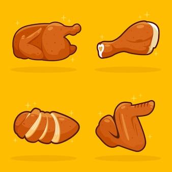 Delicioso frango assado