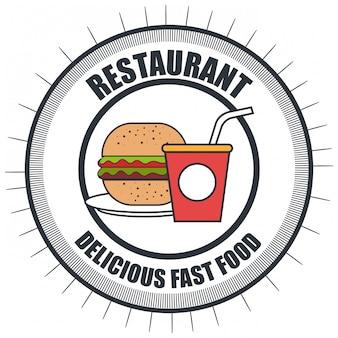 Delicioso hambúrguer isolado ícone do design