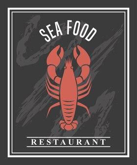 Delicioso marisco lagosta animal