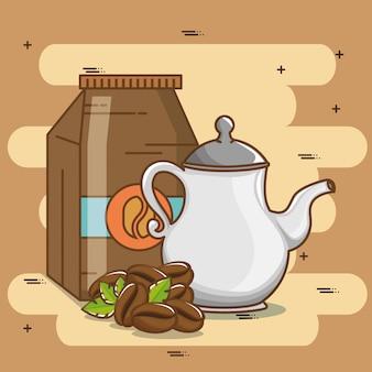 Deliciosos elementos de hora do café