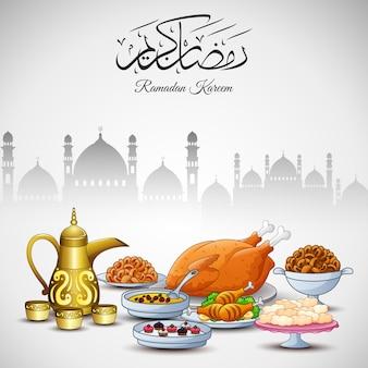 Deliciosos pratos para festa iftar