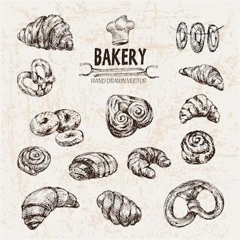 Deliciosos produtos de padaria