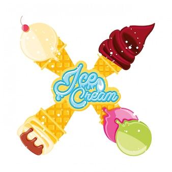 Deliciosos sorvetes