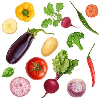Deliciosos vegetais frescos