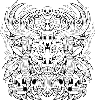 Demônio do mal wendigo