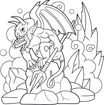 Demônio dos desenhos animados
